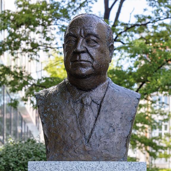 Büste von Helmut Kohl - Straße der Erinnerungen
