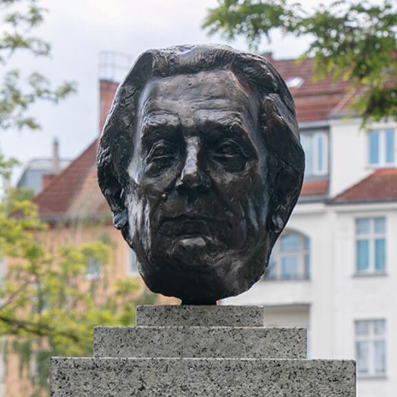 Büste von Konrad Zuse - Straße der Erinnerungen